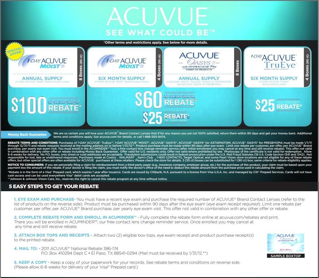 Acuvue Rebate 2011